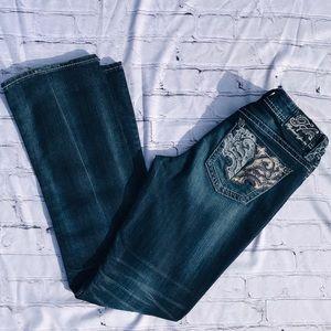 Hydraulic Gramercy Embellished Jeans Size 8